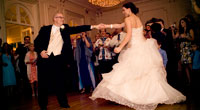 Bride and Groom dancing at Tupper Manor
