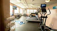 The Wylie Inn and Conference Center fitness area elliptical machines
