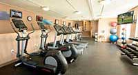 The Wylie Inn and Conference Center fitness area elliptical machines close up