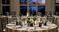 Tupper Manor Wedding Table Setting nighttime